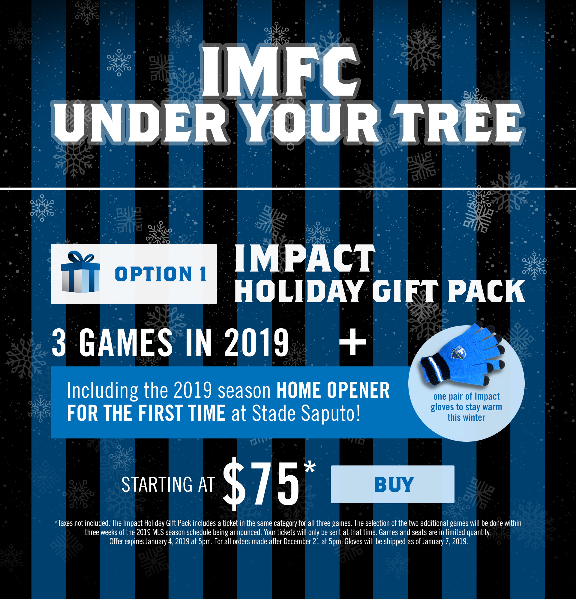 Impact Holiday packages option 1