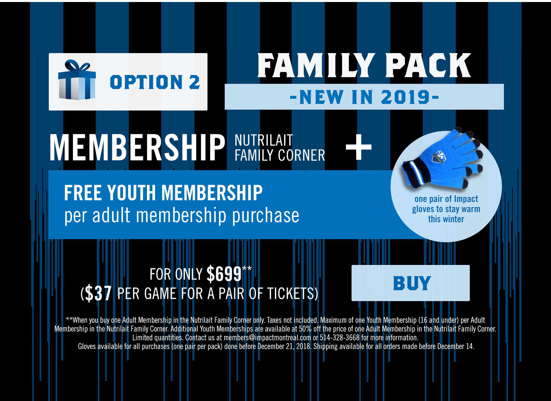 Impact Holiday packages option 2